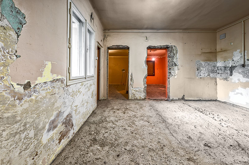 Damaged home from rot - North Yorkshire Remedials